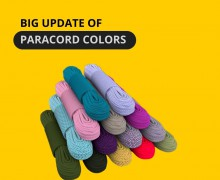 14 new paracord colors in 3 series