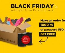 Get free 200 m Black paraсcord on Black Friday