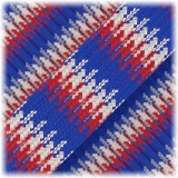 Paracord Type III 550, red blue white camo #023