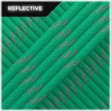 Paracord reflective, emerald green #R086