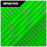 Paracord reflective, fluo green #r3017