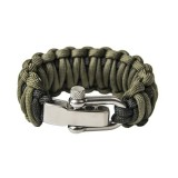 "Bracelet ""Double cobra"", Black and Army green"
