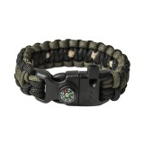 "Bracelet ""Cobra"" survival, Black and Army green"