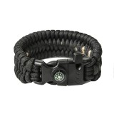 "Bracelet ""Trilobite"" survival, Black"