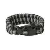 "Bracelet ""Trilobite"" survival, Black and Grey"