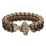 "Bracelet ""Thor's Hammer"", coyote and black"