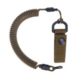 Spiral lanyard with a belt attachment, Coyote Brown