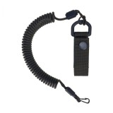 Spiral lanyard with a belt attachment, Army Green