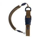 Quick release spiral lanyard, Coyote Brown