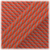 Paracord Type III 550, Dark grey Soft orange Twist #183