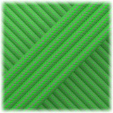 Paracord Type III 550, Dark grey Neon green Stripe #188