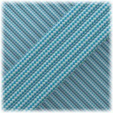 Paracord Type III 550, Silver Ice Mint Stripes #198