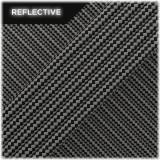 Paracord reflective, black/reflective stripes 50/50