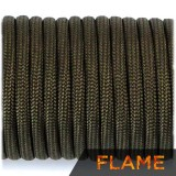 Flame cord, army green #010-F