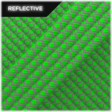 Super reflective paracord 50/50, Neon green Snake #RS017