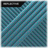 Super reflective paracord 50/50, Sky Blue Snake #RS024