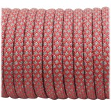 Paracord reflective, light red snake #324 50/50