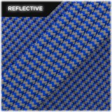 Super reflective paracord 50/50 , Blue Wave #001