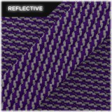Super reflective paracord 50/50, Purple Twist #RT026