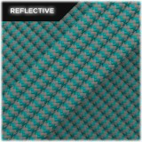 Super reflective paracord 50/50, Turqoise Wave #034
