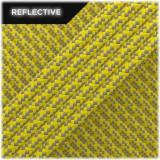 Super reflective paracord 50/50, Yellow Matrix #019