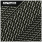 Super reflective paracord 50/50 , Army Green Twist #010