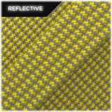 Super reflective paracord 50/50, Yellow Wave #019