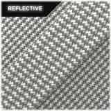 Super reflective paracord 50/50, White Wave #RW007