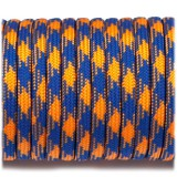Paracord Type III 550, blue orange camo #124