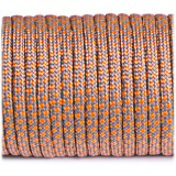 Paracord Type III 550, grey orange snake #328