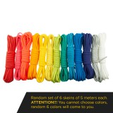 Paracord Type III 550, One colored set 6x5m (30m)