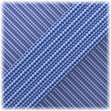 Paracord Type III 550, Silver Blue Stripes #148