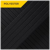 Coreless Paracord (PES) - Black #10016