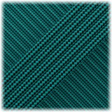 Paracord Type III 550, Neon turquose Black Stripes #161