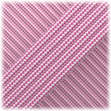 Paracord Type III 550, Pink White Stripes #163