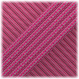 Paracord Type III 550, Sofit pink Grey Stripes #167