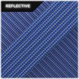 Super reflective paracord 50/50 , Blue Stripes #RSt001