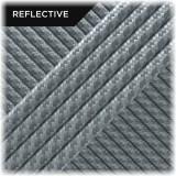 Super reflective paracord 50/50, Silver Twist #RT002
