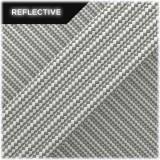 Super reflective paracord 50/50, White Stripes #RSt007