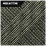 Super reflective paracord 50/50 , Khaki Stripes #RSt009