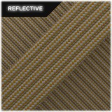 Super reflective paracord 50/50, Coyote brown Stripes #RSt012