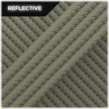 Super reflective paracord 50/50, Light Khaki Wave #RW014