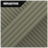 Super reflective paracord 50/50, Light Khaki Stripes #RSt014
