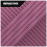 Super reflective paracord 50/50, Pastel pink Stripes #RSt015