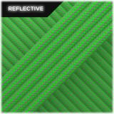 Super reflective paracord 50/50, Neon green Stripe #RSt017