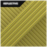Super reflective paracord 50/50, Yellow Stripes #RSt019