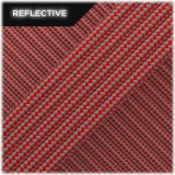 Super reflective paracord 50/50, Red Stripes #RSt021