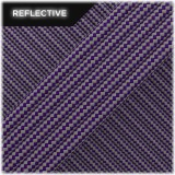 Super reflective paracord 50/50 , Purple Stripes #RSt026