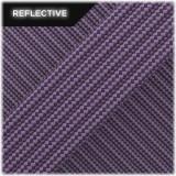 Super reflective paracord 50/50 , Violet Stripes #RSt027