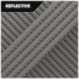Super reflective paracord 50/50, Steel grey wave #RW032